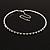 Thin Swarovski Crystal Choker Necklace (Clear & Black) - view 4