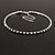 Thin Swarovski Crystal Choker Necklace (Clear & Black) - view 6