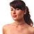 Thin Swarovski Crystal Choker Necklace (Clear & Black) - view 3