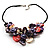 Stunning Multicoloured Shell-Composite Leather Cord Necklace - view 3