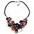 Stunning Multicoloured Shell-Composite Leather Cord Necklace