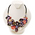 Stunning Multicoloured Shell-Composite Leather Cord Necklace - view 2