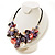 Stunning Multicoloured Shell-Composite Leather Cord Necklace - view 6