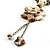 Antique White Shell Composite Floral Tassel Leather Cord Necklace - view 6