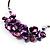 Purple Shell-Composite Leather Cord Necklace - view 6