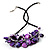 Purple Shell-Composite Leather Cord Necklace - view 8