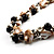 Exquisite Faux Pearl & Shell Composite Silver Tone Link Necklace (Antique White & Black) - view 3