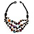 3 Strand Multicoloured Shell & Bead Necklace - view 1