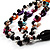 3 Strand Multicoloured Shell & Bead Necklace - view 4