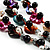 3 Strand Multicoloured Shell & Bead Necklace - view 2