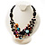 3 Strand Multicoloured Shell & Bead Necklace - view 5