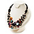 3 Strand Multicoloured Shell & Bead Necklace - view 8