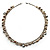 Antique White Bead & Shell Long Necklace (Burn Silver Tone) - view 6