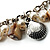 Antique White Bead & Shell Long Necklace (Burn Silver Tone) - view 4