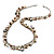 Antique White Bead & Shell Long Necklace (Burn Silver Tone) - view 7