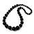 Black Wooden Bead Necklace - 70cm Length