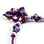 Purple & Magenta Glass, Shell & Mother Of Pearl Floral Choker Necklace (Silver Tone) - view 8