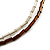 Chunky Multi-Strand Glass Bead Wood Necklace (Brown & Transparent/ White) - 58cm L - view 6