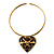 Flowering Heart Brass Choker Necklace - view 2