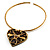 Flowering Heart Brass Choker Necklace - view 4