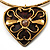 Flowering Heart Brass Choker Necklace - view 1