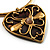 Flowering Heart Brass Choker Necklace - view 6