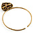 Flowering Heart Brass Choker Necklace - view 7