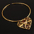 Flowering Heart Brass Choker Necklace - view 8