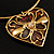 Flowering Heart Brass Choker Necklace - view 10