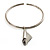Hammered Stainless Steel Lucky Sail Choker Necklace - view 2