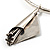 Hammered Stainless Steel Lucky Sail Choker Necklace - view 4