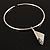 Hammered Stainless Steel Lucky Sail Choker Necklace - view 7