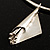 Hammered Stainless Steel Lucky Sail Choker Necklace - view 9