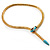 Gold Plated Enamel Crystal Snake Choker Necklace