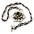 Burn Silver Rose Leather Necklace - view 4