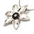 Rhodium Plated Daisy Pendant Wire Necklace - view 4