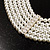 6-Strand Faux Pearl Bridal Diamante Choker Necklace (Silver Plated Metal) - view 7