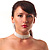 6-Strand Faux Pearl Bridal Diamante Choker Necklace (Silver Plated Metal) - view 3