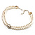 2 Strand Pearl Style Wedding Choker Necklace (Snow White, Silver Tone) - view 5