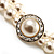 2 Strand Pearl Style Wedding Choker Necklace (Snow White, Silver Tone) - view 6