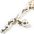 2 Strand Pearl Style Wedding Choker Necklace (Snow White, Silver Tone) - view 8
