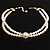 2 Strand Pearl Style Wedding Choker Necklace (Snow White, Silver Tone) - view 9