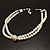 2 Strand Pearl Style Wedding Choker Necklace (Snow White, Silver Tone) - view 10