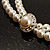 2 Strand Pearl Style Wedding Choker Necklace (Snow White, Silver Tone) - view 11