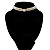 2 Strand Pearl Style Wedding Choker Necklace (Snow White, Silver Tone) - view 12