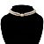 2 Strand Pearl Style Wedding Choker Necklace (Snow White, Silver Tone) - view 4