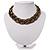 Chic Braided Choker Necklace (Bronze Tone) - 36cm Length
