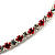 Thin Swarovski Crystal Choker Necklace (Clear & Hot Red) - view 7