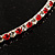 Thin Swarovski Crystal Choker Necklace (Clear & Hot Red) - view 5