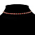 Thin Swarovski Crystal Choker Necklace (Clear & Hot Red) - view 4